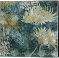 Navy Chrysanthemums I Fine-Art Print