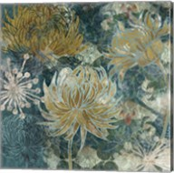 Navy Chrysanthemums II Fine-Art Print