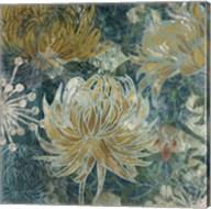 Navy Chrysanthemums II Fine-Art Print