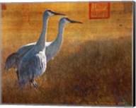 Walking Cranes Fine-Art Print