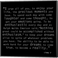 Be Enthusiastic, Jimmy V Quote Fine-Art Print