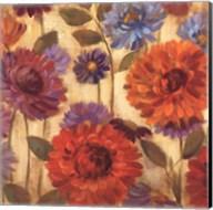 Rainbow Dahlias Crop II Fine-Art Print