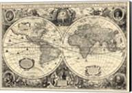 Vintage World Map - Orbis Geographica Fine-Art Print