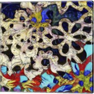 Bejeweled Woodblock I Fine-Art Print
