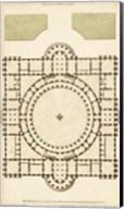 Antique Garden Plan III Fine-Art Print