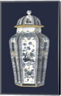 Asian Urn in Blue & White I Fine-Art Print