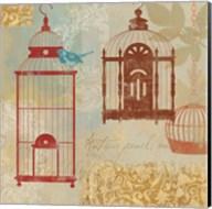 Bird on a Cage I Fine-Art Print