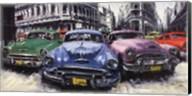 Classic American Cars in Havana Fine-Art Print