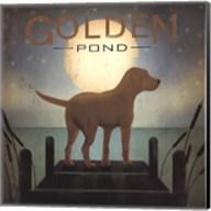 Moonrise Yellow Dog - Golden Pond Fine-Art Print