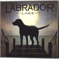 Moonrise Black Dog - Labrador Lake Fine-Art Print