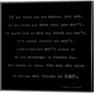 If You Think You are Beaten Quote by Walter D. Wintle Fine-Art Print
