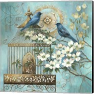 Blue Birds and Dogwood Fine-Art Print