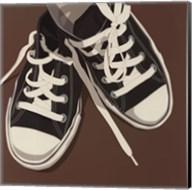 Lowtops (black on brown) Fine-Art Print
