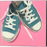 Lowtops (blue on pink) Fine-Art Print