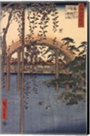 Precincts of the Tenjin Shrine at Kameido, 1856 Fine-Art Print