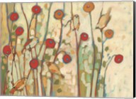 Five Little Birds Playing Amongst the Poppies Fine-Art Print