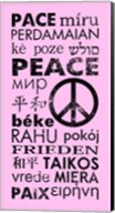 Pink Peace Languages Fine-Art Print