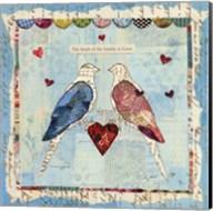 Love Birds Square Fine-Art Print
