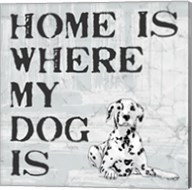 Home Is Where My Dog Is Fine-Art Print
