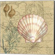 Coastal Map Collage I Fine-Art Print