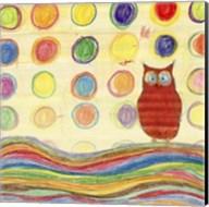 Feathers, Dots & Stripes IV Fine-Art Print