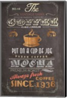 Coffee Menu I Fine-Art Print