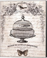 French Birdcage I - mini Fine-Art Print