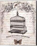 French Birdcage II - mini Fine-Art Print