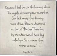 More Than Mother by Edgar Allan Poe Fine-Art Print