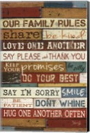 Our Family Rules I Fine-Art Print