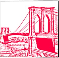 Red Brooklyn Bridge Fine-Art Print