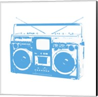 Blue Boom Box Fine-Art Print