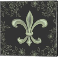 Fleur de Lis - Black Fine-Art Print