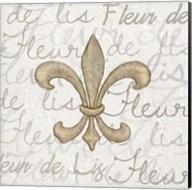 Fleur de Lis - White Fine-Art Print