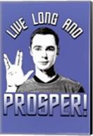 The Big Bang Theory - Live Long Wall Poster
