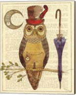 Steampunk Owl I Fine-Art Print