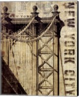 Vintage NY Manhattan Bridge Fine-Art Print