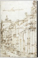 The Campo San Basso: The North Side with the Church Fine-Art Print