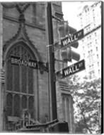 Wall Street Signs Fine-Art Print