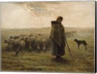 Shepherdess and Her Flock Fine-Art Print