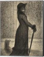 Woman Strolling Fine-Art Print