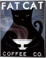 Cat Coffee no City Fine-Art Print
