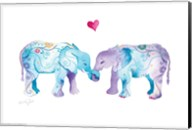 Elephants in Love Fine-Art Print