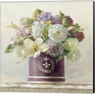 Tulips in Aubergine Hatbox Fine-Art Print