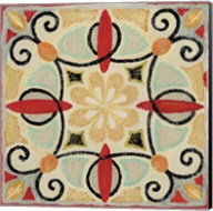 Bohemian Rooster Tile Square II Fine-Art Print