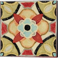 Bohemian Rooster Tile Square IV Fine-Art Print