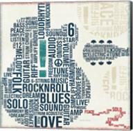 Type Guitar Square II Fine-Art Print