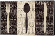 Kitchen Words Trio Fine-Art Print