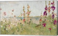 Hollyhocks by the Sea Fine-Art Print