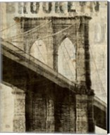 Vintage NY Brooklyn Bridge Fine-Art Print